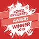 Loved By Guests Award  Winner 2018 Hotels.com